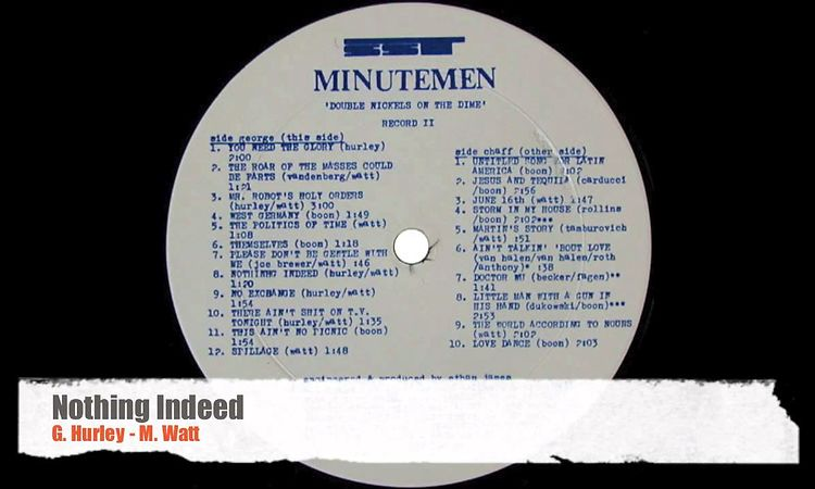 Double Nickels On The Dime Minutemen Lp Music Mania
